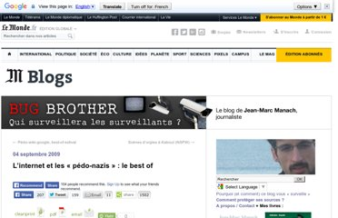 http://bugbrother.blog.lemonde.fr/2009/09/04/linternet-et-les-pedo-nazis-le-best-of/