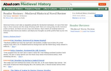 http://historymedren.about.com/u/reviews/modernentertainment/Medieval-Historical-Novel-Review/