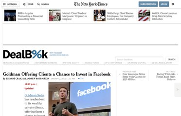 http://dealbook.nytimes.com/2011/01/02/goldman-invests-in-facebook-at-50-billion-valuation/