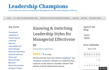 http://leadershipchamps.wordpress.com/2008/03/06/knowing-switching-leadership-styles-for-managerial-effectiveness/