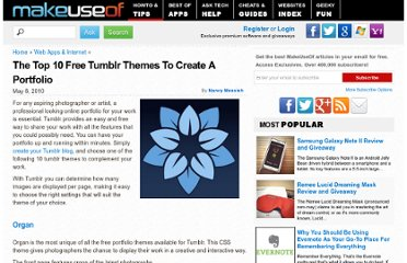 http://www.makeuseof.com/tag/top-10-free-tumblr-themes-create-portfolio/