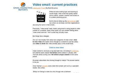 http://www.email-marketing-reports.com/iland/2009/03/video-email-current-practices.html