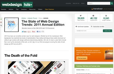 http://webdesign.tutsplus.com/articles/design-theory/the-state-of-web-design-trends-2011-annual-edition/