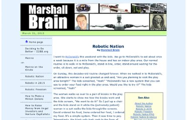 http://www.marshallbrain.com/robotic-nation.htm