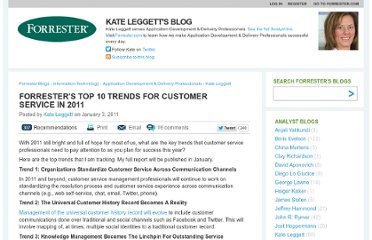 http://blogs.forrester.com/kate_leggett/11-01-03-forresters_top_10_trends_for_customer_service_in_2011