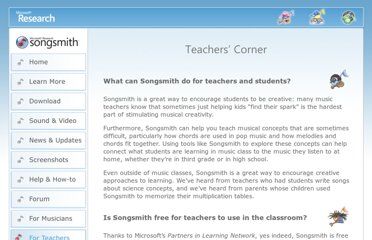 http://research.microsoft.com/en-us/um/redmond/projects/songsmith/teachers.html