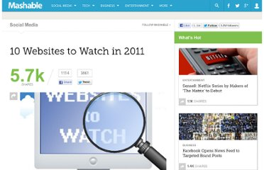 http://mashable.com/2011/01/03/websites-to-watch-in-2011/