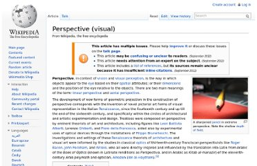 http://en.wikipedia.org/wiki/Perspective_(visual)