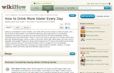 http://www.wikihow.com/Drink-More-Water-Every-Day