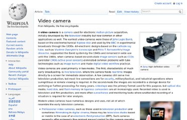 http://en.wikipedia.org/wiki/Video_camera