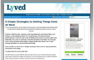 http://www.lyved.com/misc/9-simple-strategies-to-getting-things-done-at-work/