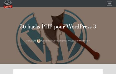 http://wpchannel.com/30-hacks-php-wordpress-3/