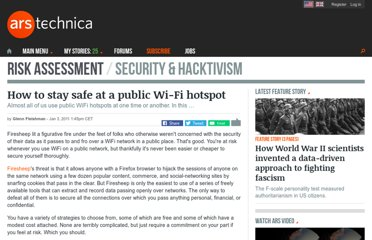 http://arstechnica.com/security/guides/2011/01/stay-safe-at-a-public-wi-fi-hotspot.ars