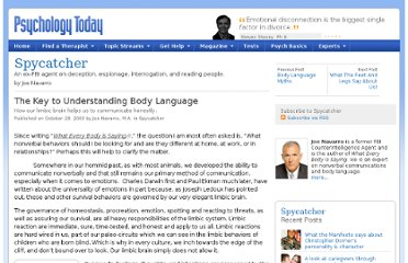 http://www.psychologytoday.com/blog/spycatcher/200910/the-key-understanding-body-language