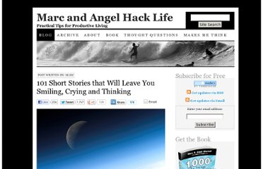 http://www.marcandangel.com/2010/12/27/101-short-stories-that-will-leave-you-smiling-crying-and-thinking/