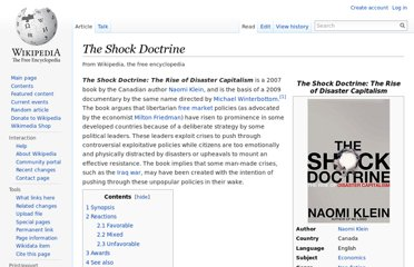 http://en.wikipedia.org/wiki/The_Shock_Doctrine