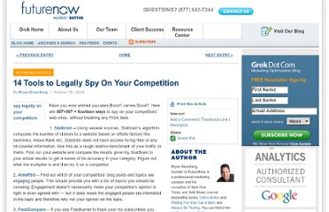 http://www.grokdotcom.com/2008/10/07/14-tools-to-legally-spy-on-your-competition/