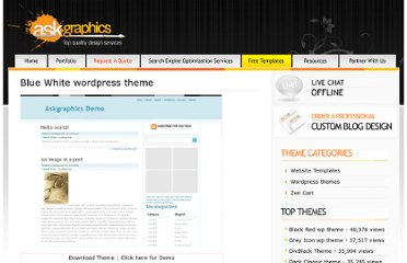 http://www.askgraphics.com/freetemplates/blue-white-wordpress-theme/