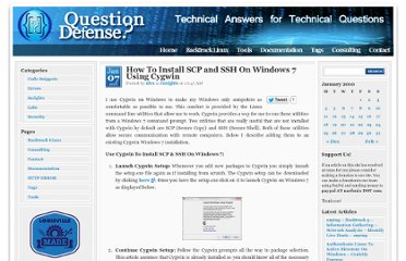 http://www.question-defense.com/2010/01/07/how-to-install-scp-and-ssh-on-windows-7-using-cygwin