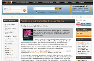 http://www.packtpub.com/article/packt-beginners-guides