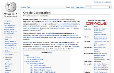 http://en.wikipedia.org/wiki/Oracle_Corporation