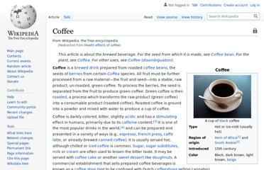 http://en.wikipedia.org/wiki/Health_effects_of_coffee