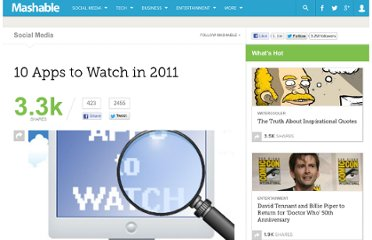 http://mashable.com/2011/01/04/10-apps-to-watch-in-2011/
