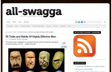 http://allswagga.com/blog/2010/11/30/50-traits-and-habits-of-highly-effective-men/