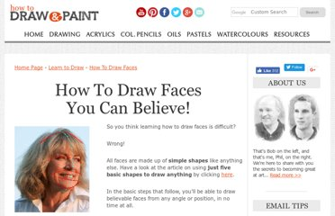 http://www.how-to-draw-and-paint.com/how-to-draw-faces.html