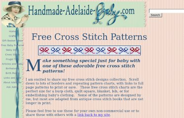 http://www.handmade-adelaide-baby.com/free-cross-stitch-patterns.html#Cross_Stitch_Borders