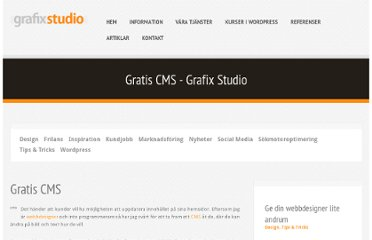 http://www.grafixstudio.se/tips-tricks/gratis-cms/