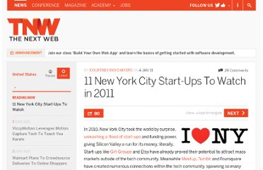 http://thenextweb.com/us/2011/01/04/11-new-york-city-start-ups-to-watch-in-2011/