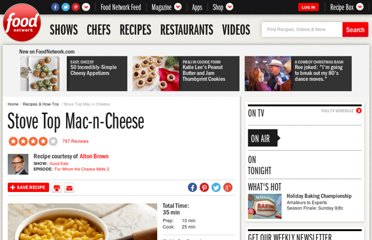 http://www.foodnetwork.com/recipes/alton-brown/stove-top-mac-n-cheese-recipe/index.html