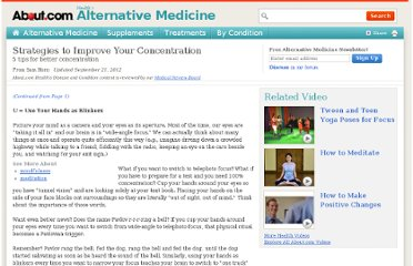 http://altmedicine.about.com/od/optimumhealthessentials/a/Concentration_2.htm