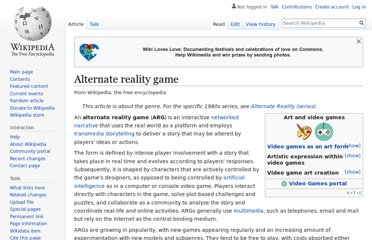 http://en.wikipedia.org/wiki/Alternate_reality_game