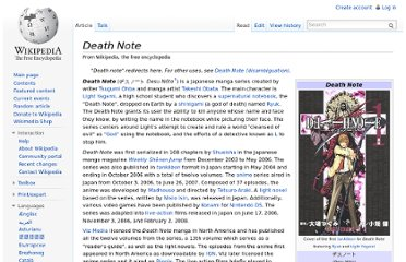 http://en.wikipedia.org/wiki/Death_Note