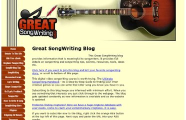 http://www.greatsongwriting.com/great-songwriting-blog.html