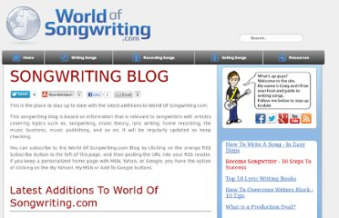 http://www.world-of-songwriting.com/Songwriting-blog.html