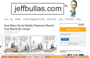 http://www.jeffbullas.com/2009/08/02/how-many-social-media-channels-should-your-brand-be-using/