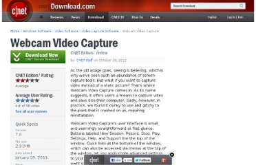 http://download.cnet.com/Webcam-Video-Capture/3000-13633_4-10671720.html