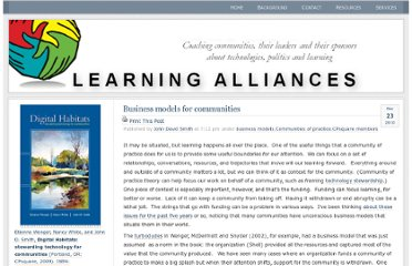 http://learningalliances.net/2010/12/business-models-for-communities/