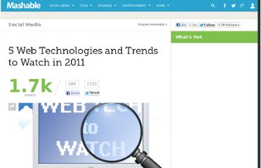 http://mashable.com/2011/01/05/web-technologies-2011/