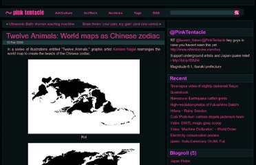 http://pinktentacle.com/2009/02/twelve-animals-world-maps-as-chinese-zodiac/