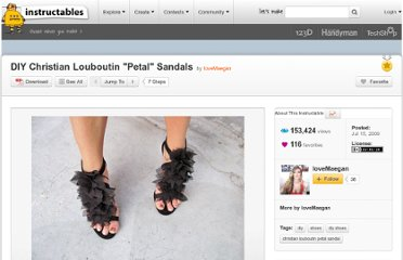 http://www.instructables.com/id/DIY-Christian-Louboutin-quotPetalquot-Sandals/