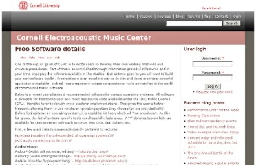 http://digital.music.cornell.edu/freesoftware