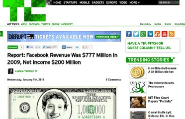 http://techcrunch.com/2011/01/05/report-facebook-revenue-was-777-million-in-2009-net-income-200-million/