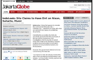 http://www.thejakartaglobe.com/home/indoleaks-site-claims-to-have-dirt-on-nixon-suharto-munir/411117