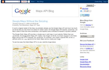 http://googlemapsapi.blogspot.com/2008/02/google-maps-without-scripting.html