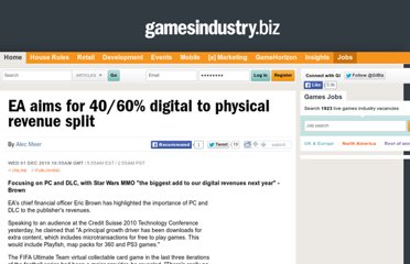 http://www.gamesindustry.biz/articles/2010-12-01-ea-aims-for-40-60-percent-digital-to-physical-revenue-split
