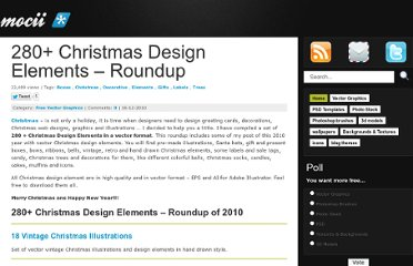 http://mocii.com/free-vector-graphics/280-christmas-design-elements-vector-roundup/